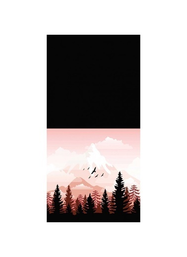 Artikel Pembe Dağ Manzarası Dekoratif Çift Taraflı Yastık Kırlent Kılıfı 45x45 cm Renkli